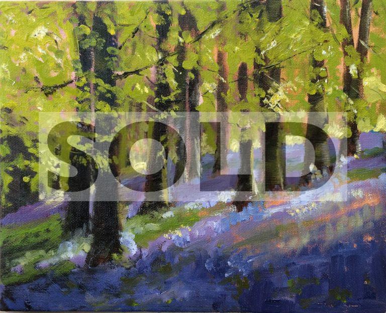 "'Evening Light'  Jane Ferdinando - Oil on Canvas 10 x 8"""